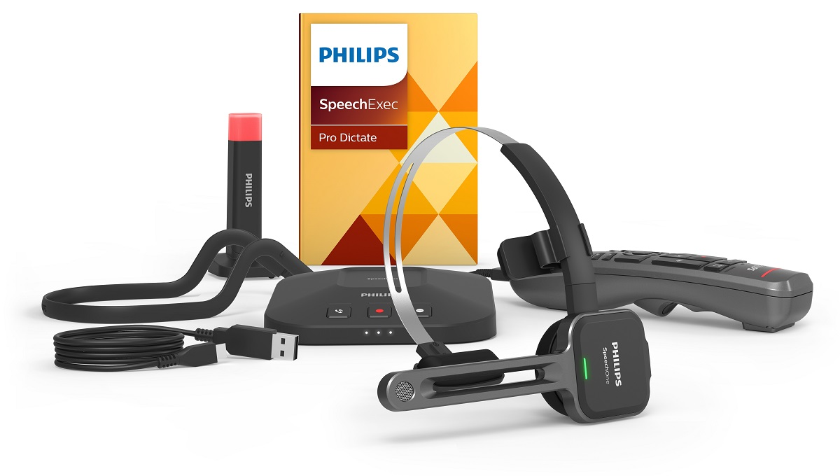 Speechone Micro Casque De Dictée Sans Fil Philips Psm6500 Nt